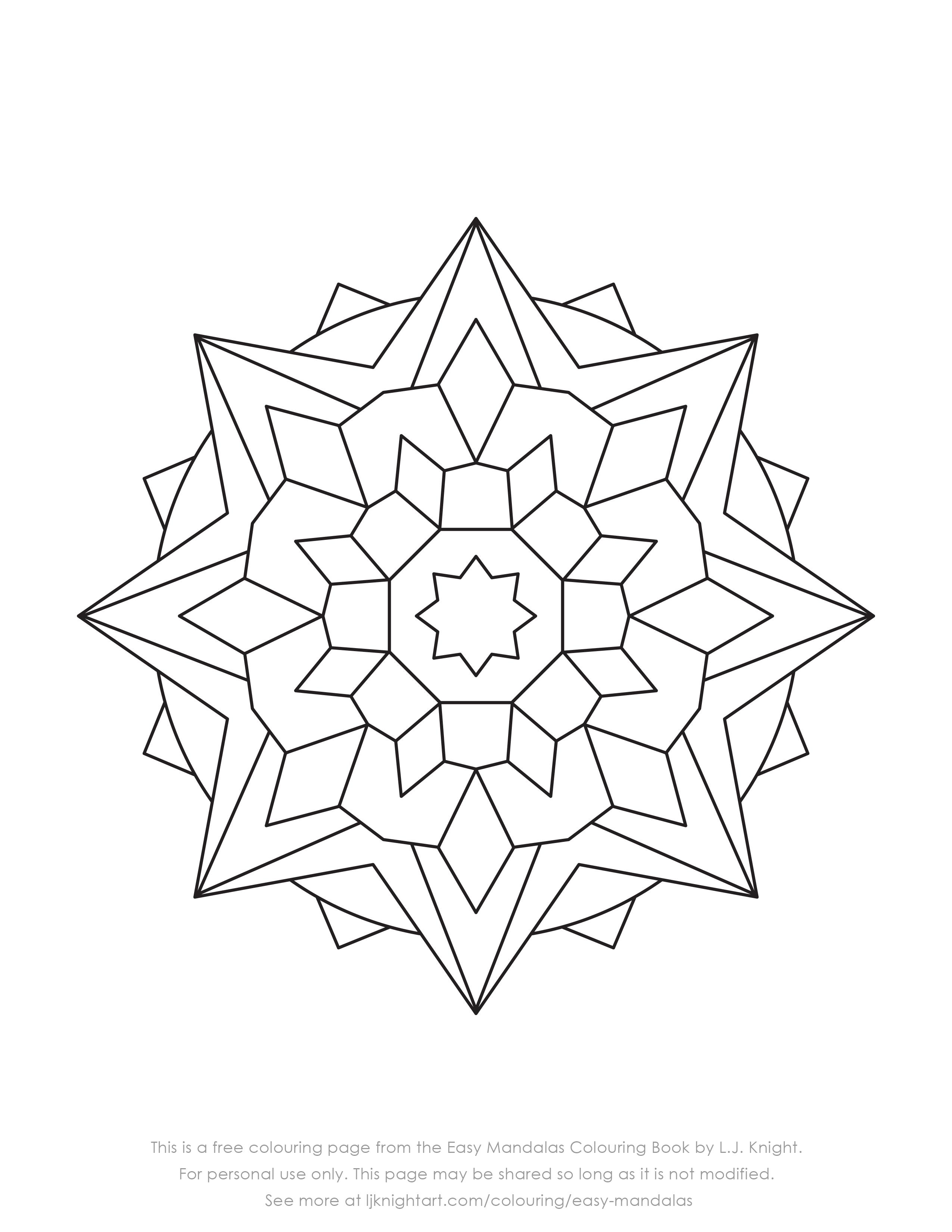 Fabulous Simple Mandala Coloring Pages – Slavyanka | 3300x2550