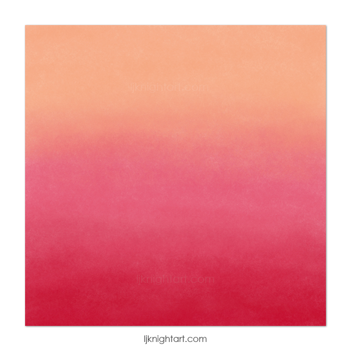 Abstract digital  painting in pink and peach