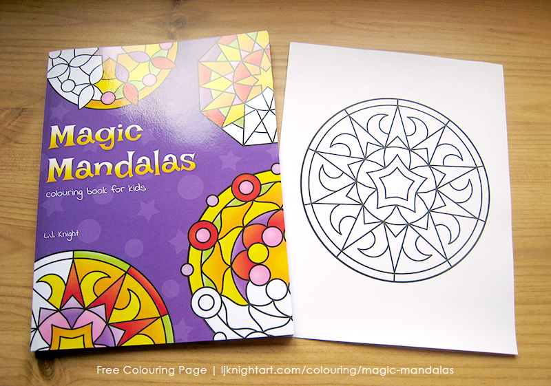 Free easy mandala printable colouring page