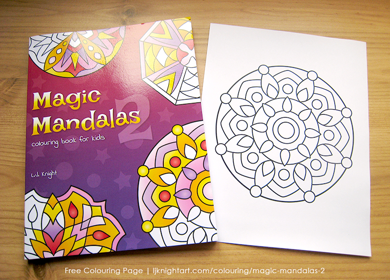 Free easy abstract mandala colouring page download