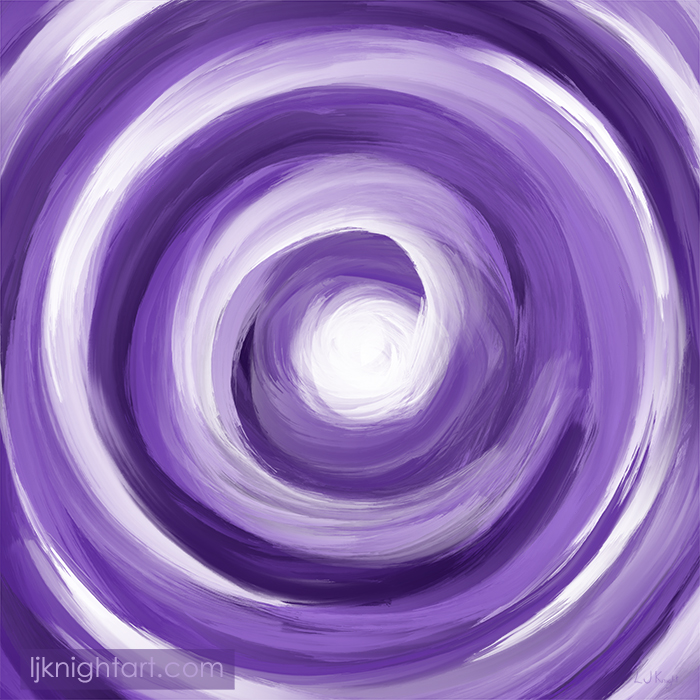 Purple and white vortex - digital painting by L.J. Knight