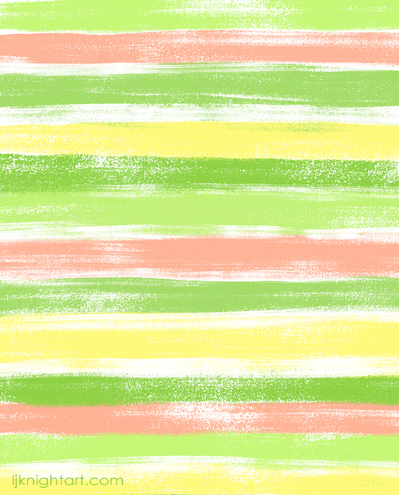 Green and yellow pastel stripe pattern by L.J. Knight