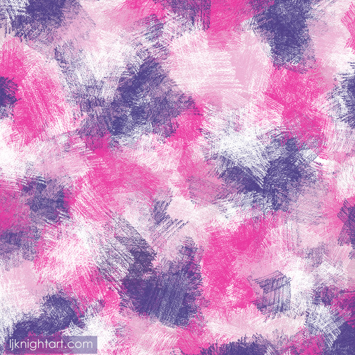 Pink and purple digital pencil abstract painting by L.J. Knight