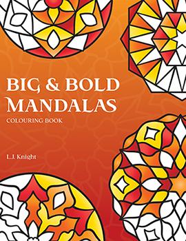 Big & Bold Mandalas Coloring Book