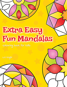 Extra Easy Fun Mandalas Colouring Book For Kids