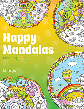 Happy Mandalas Coloring Book