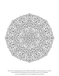 Free Abstract Mandala Colouring Page
