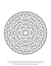Free Abstract Mandalas Colouring Page