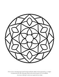 Free Big & Bold Mandalas Colouring Page