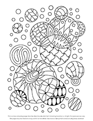 Free Easy Doodle Abstract Colouring Page