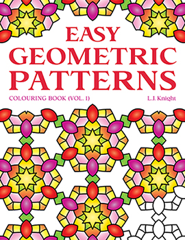 Easy Geometric Patterns Coloring Book (Volume 1) by L.J. Knight