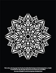 Free Easy Mandalas Black Background