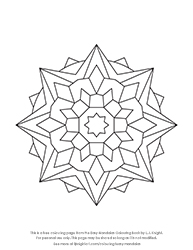 Free Easy Mandala Colouring Page