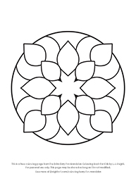 Free Extra Easy Fun Mandalas Colouring Page