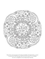 Free Cartoon Snail Mandala Colouring Page