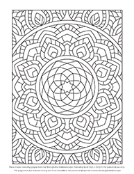 Free Kaleidoscope Pattern Colouring Page