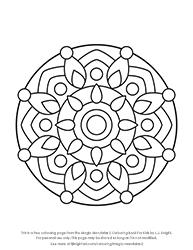 Free Mandala Colouring Page