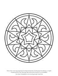 Free Magic Mandalas Colouring Page for Kids