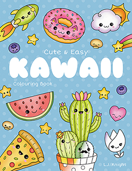 Cute and Easy Kawaii  Coloring Book