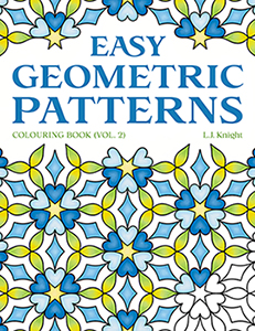 Easy Geometric Patterns (Volume 2) Colouring Book by L.J. Knight