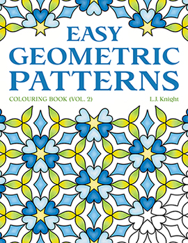 Easy Geometric Patterns Coloring Book (Volume 2) by L.J. Knight
