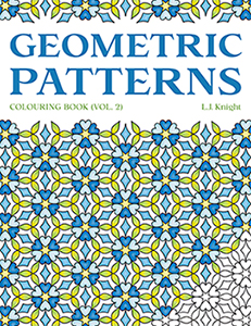 Geometric Patterns  Colouring Book (Volume 2) by L.J. Knight