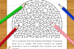 Abstract Mandalas 2 Colouring Book - Preview