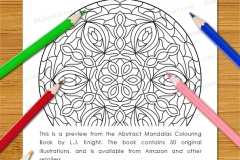 Abstract Mandalas Colouring Book - Preview