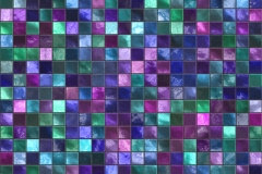 Blue and Pink Tile Pattern Abstract