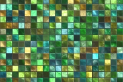 Green Square Tile Pattern
