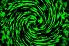 Green and Black Abstract