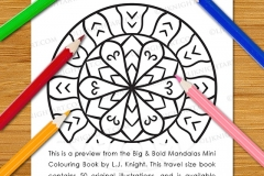 Big & Bold Mandalas Mini Colouring Book - Preview