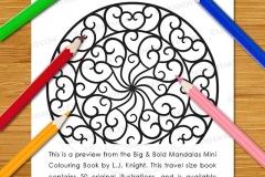 Big & Bold Mandalas Mini Colouring Book - Preview