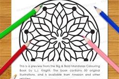 Big & Bold Mandalas Colouring Book - Preview