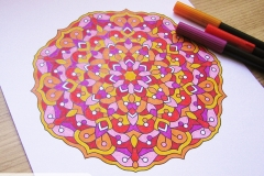 Coloured mandala