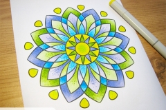 Magic Mandalas 2 Colouring Book - Coloured Page