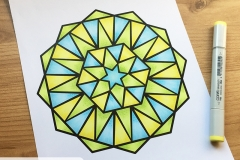 Big & Bold Mandalas - Coloured Page