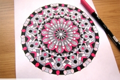Abstract Mandalas 2 Colouring Book - Coloured Page