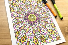 Through the Kaleidoscope Colouring Book - Coloured Page