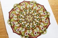 Abstract Mandalas Colouring Book - Coloured Page