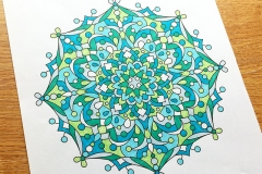 Abstract Mandalas 2 Colouring Book - Coloured Page