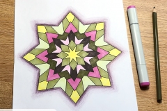 Simple Mandalas Colouring Book - Coloured Page