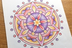 Easy Mandalas Colouring Book - Coloured Page