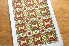 Geometric Patterns Colouring Book (Volume 1) - Coloured Page