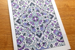 Kaleidoscope colouring page