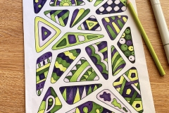 Easy abstract colouring page