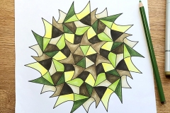 Easy mandala colouring page