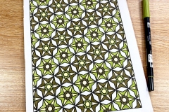 Geometric pattern colouring page