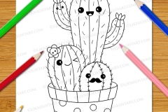 Cute & Easy Kawaii Colouring Book - Preview