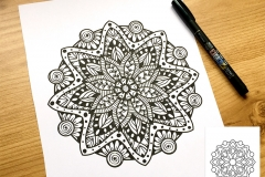 Magic Mandalas Colouring Book - Doodle-Filled Page
